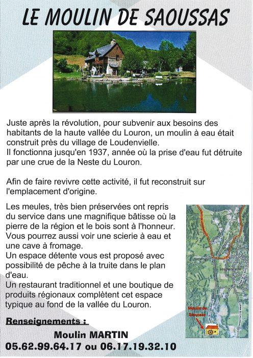 Cartel explicativo Le Moulin de Saoussas